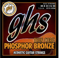 GHS Thin Core Phosphor Bronze TCB-M / Acoustic Guitar String Set (medium / .013-.056)