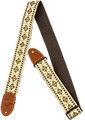 Gretsch G Brand Strap - Diamond Pattern (brown ends) Gitarren-Gurt