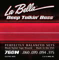 La Bella 760N Black Nylon Tape Wound (60-115)
