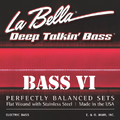 La Bella 767-6F Bass VI Stainless Flat Wound (.026-.095)