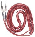 Lava Cable Retro Coil / 7.5ft/MR (metallic red, straight to straight)