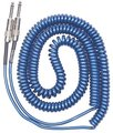 Lava Cable Retro Coil / 7.5m/MB (metallic blue, straight to straight)