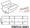 Fefco 0201 Wellkartonbox (450 x 450 x 80 mm)