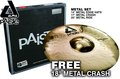 Paiste Alpha Brilliant Metal Set   (14/17/20 + Free 18) Beckenset