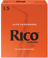 Rico Orange Alto-Sax #1.5 / Unfiled (strength 1.5,  10er-box)