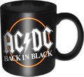 Rock Off ACDC Boxed Standard Mug Back In Black Circle (11 oz)