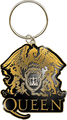 Rock Off Queen Keychain Gold Crest
