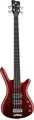 RockBass Corvette $$ 4-String (burgundy red,  passive, fretted)