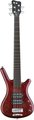 RockBass Corvette $$ 5-String (burgundy red,  passive, fretted)