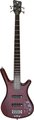 RockBass Corvette Basic 4-String (burgundy red, active, fretted)