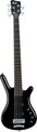 RockBass Corvette Basic 5-String (black high polish, active, fretted)