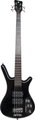 RockBass Corvette $$ 4-String (black high polish, passive, fretted)