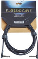 RockBoard Flat Instrument Cable, 300 cm, angled/angled (black)