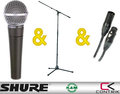 Shure SM58 + Contrik Cable 6m + K&M 210/20 Set (black stand) Microphones Sets