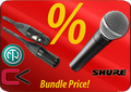 Shure SM58 + Contrik Cable-Set Dynamic Microphones