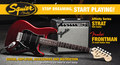 Squier Affinity Strat HSS Frontman 15G Amp CAR (candy apple red)
