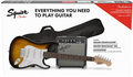 Squier Stratocaster Pack, Gig Bag, 10G - 230V EU (brown sunburst)