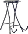 Stagg Foldable Round Stool with Built-in Guitar Stand (black)