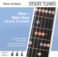Sticky Tunes Guitar Sticker Set: Maj/Minor Blues (major/ minor blues)