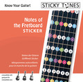 Sticky Tunes Guitar Sticker Set: notes of the fretboard (fingerboard note positions)