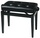 Gewa Deluxe Piano Bench (Leather, Black)